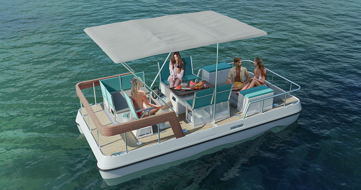 Small electric boat fo short trips